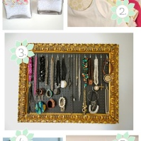 jewel, keys, make up brush