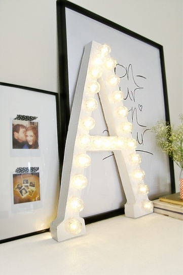 marquee letter by sugar & cloth