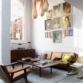 midcentury liv room symmetrical