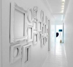 white frame white wall
