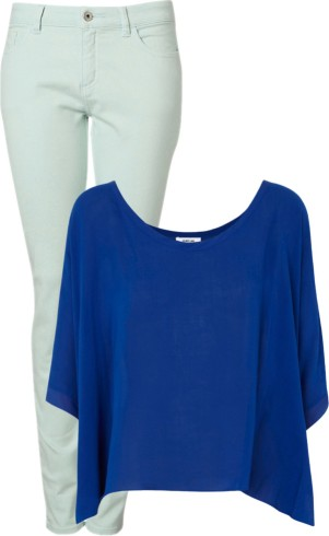 pantone color trend fashion spring 2013: grayed jade and monaco blue