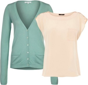 pantone color trend fashion spring 2013: grayed jade and linen