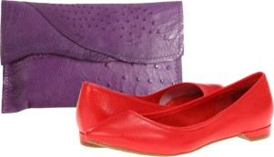 pantone color trend fashion spring 2013: poppy red and african violet