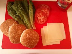 υλικά για burger