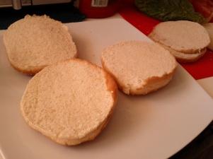 ψωμάκια στα δύο