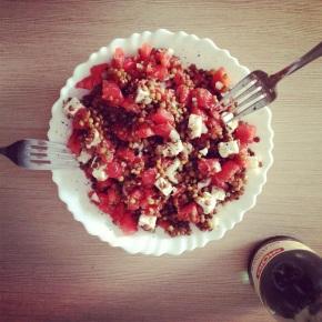 Φακές σαλάτα αλά ελληνικά/ Greek recipe: Lentilssalad