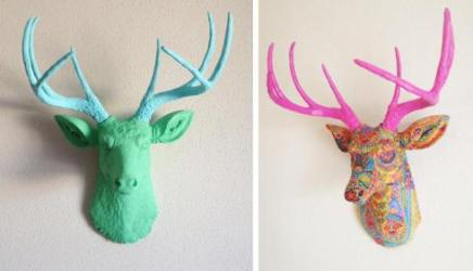 resin deer head