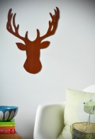 wooden deer head silhouette