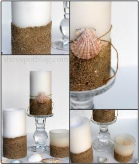 κεριά με αμμο