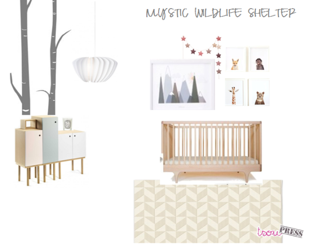 Moodboard Mystic wildlife shelter nursery by Tsoupress
