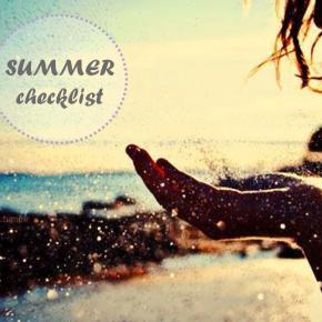 The Summer checklist