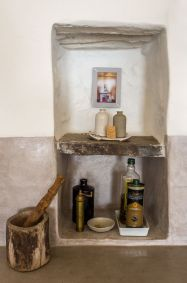 greek hillside village renovated home