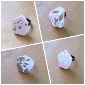 Αγορά: Χειροποίητα δαχτυλίδια απο πλακάκια!/ Gifts: Rings made of tilefragments